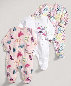 Girls Essentials Three Pack of Umbrella All in Ones - Baby Girl Essentials - Mamas & Papas