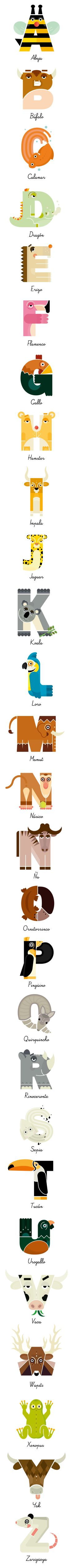 Animalario by anna tilche, via Behance