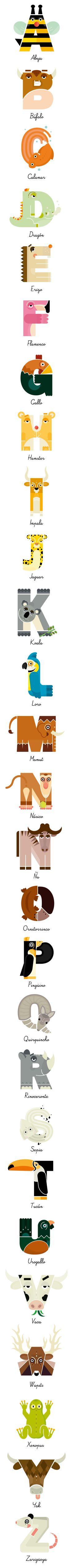 http://annatilchestudio.com/65612/1991482/projects/animal-alphabet-