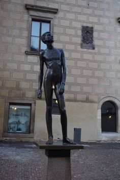 Boy sculpture in praha castle.