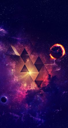 Outer Space / triangle / wallpaper