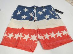 Men's swim trunks board shorts Tommy Hilfiger NEW L 7859556 Navy Blazer 416 star #TommyHilfiger #Trunks