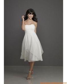 Süße Liebste Knielange Brautkleider aus Organza