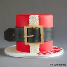 Santa Boutique cake by Intricate Icings