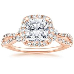 14K Rose Gold Luxe Willow Halo Diamond Ring (1/2 ct. tw.) from Brilliant Earth