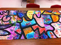 Art lessons for kids, art for kids, group art projects, collabo Art Lessons For Kids, Art Lessons Elementary, Art For Kids, Group Art Projects, Collaborative Art Projects, Kindergarten Art Projects, Ecole Art, Teaching Art, Teaching Tools