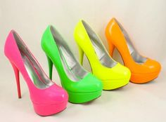 Bright High Heels are in order for Saturday night! Black dress with bright pumps please! @Wendy Smith@Rachel Page@Sabrina Gagner@Amy Gagner@Kristy Jolstead Carbajal@Kelly Kahari