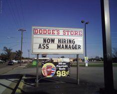 """Hilarious """"Now Hiring"""" Signs Help Wanted Ads, Now Hiring Sign, Sign O' The Times, Job Humor, Funny Wedding Photos, Lost In Translation, Bizarre, Business Signs, Street Signs"""