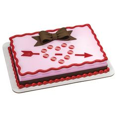 Cupid's Fondant Arrow 1/4 Sheet Cake