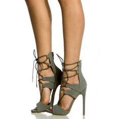 Vita Gray Ankle Strappy Pumps