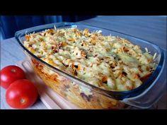 Zapiekanka bolońska z pieczarkami :) - YouTube Potato Salad, Cauliflower, Macaroni And Cheese, Hamburger, Food And Drink, Pizza, Snacks, Vegetables, Ethnic Recipes