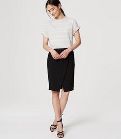 Tall Pocket Wrap Pencil Skirt