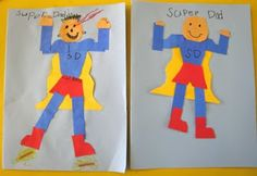 """I think these would also be great for depicting the Super Hero Vowels! Could use as manipulatives to put in various words, as well as Mommy-E to make each """"long"""" or """"short! Heidisongs Resource: Super Hero Father's Day Cards! Diy Father's Day Cards, Cool Cards, Father's Day Activities, Daddy Day, Fathers Day Crafts, Kid Crafts, Father's Day Diy, Super Dad, School Fun"""