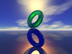 This is an example of balance because it displays the two rings equally on top and bottom.