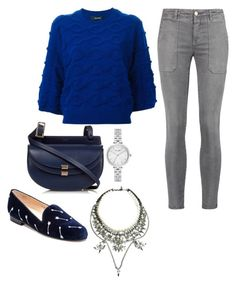 """""""Untitled #8892"""" by beatrizibelo ❤ liked on Polyvore featuring Zucca, Jon Josef, Chloé, Kate Spade and Current/Elliott"""