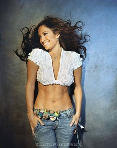 J.LO's stomach!!! Actually, everything!!! Okay, two hours EVERY day in the gym!!! Love her.