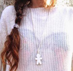 #white #trend #knit #necklace #fashion #bijoux