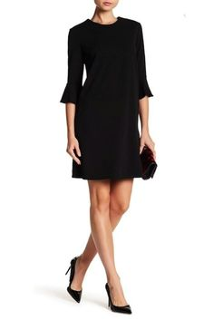 ABS COLLECTION Womens Dress Ruffle-Sleeve Shift Dress - best woman's fashion products designed to provide Dot Dress, Ruffle Dress, Casual Dresses For Women, Clothes For Women, Bell Sleeve Dress, All Fashion, Nordstrom Dresses, Ruffle Sleeve, Dresses Online