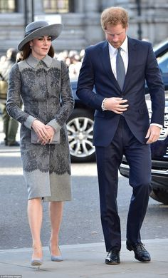 The Duchess made a rare joint public appearance with her brother-in-law Prince Harry as th...