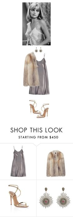 """""""Michelle Pfeiffer style-scarface"""" by sanja1992 ❤ liked on Polyvore featuring Shelly Steffee, Derek Lam, Aquazzura, Carole Shashona, gold, silk, fur and MichellePfeiffer"""