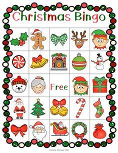 Christmas Bingo Cards, Christmas Math, Christmas Party Games, Christmas Crafts For Kids, Christmas Activities, Christmas Printables, Holiday Fun, Christmas Holidays, Christmas Traditions