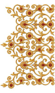Discover thousands of images about Heavy Fashionable Embroidery Lace Border Designs 15604 Indian Embroidery Designs, Embroidery Suits Design, Creative Embroidery, Hand Embroidery Patterns, Lace Embroidery, Machine Embroidery, Border Design, Lace Design, Baroque Design