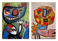 Christiaan Karel Appel, conhecido como Karel Appel (Amsterdão, 25 de Abril de 1921 — Zurique, 3 de Maio de 2006) foi um pintor, designer, artista gráfico, escritor e escultor neerlandês e co-fundador do grupo CoBrA, em 1948.(...)http://pt.wikipedia.org/wiki/Karel_Appel