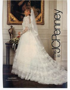 Modern Bride Feb/Mar 1984  I love this gown even now in November 2015!!!  I wish I could see the front of it!