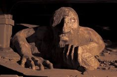 The Fremont Troll lives under a bridge and will eat your car. N. 36th Street at Troll Avenue (Fremont)