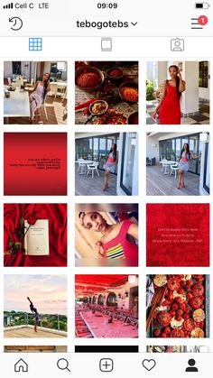 Red Instagram theme