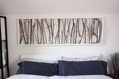 diy branch art headboard.JPG