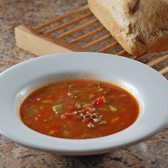 Hamburger Pasta Soup