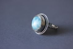 larimar cocktail ring #gemstone #jewelry #ring #blue #womens #bohochic #boho