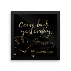 Come back yesterday. Caraval Art Print
