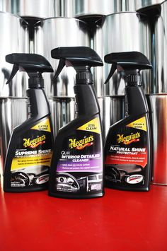 Meguiars Supreme Shine, Interior Detailer cleaner, and Natural Shine Protectant