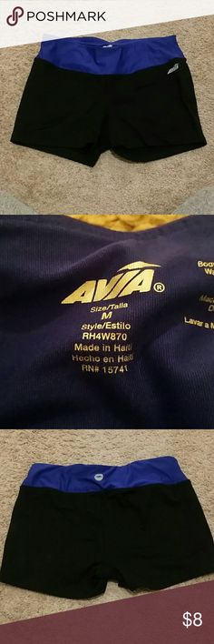 Womens spandex shorts Womens spandex shorts with indigo/deep blue band. Size medium. Lightly worn. Avia Other