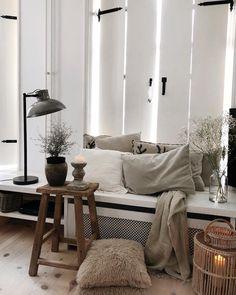Fensterläden - Furniture, carpets and tabelware - Dekoration Living Room Goals, Living Spaces, Living Room Inspiration, Home Decor Inspiration, Dyi, Living Room Carpet, Rustic Interiors, Modern Bedroom, Home And Living