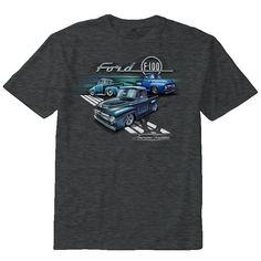 Homme Ford T Shirt Built Tough Genuine Garage V8 Pick up Truck Hot Rod Muscle Car
