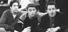 Imagem de chandler bing, ross geller, and joey tribianni