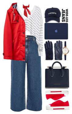 """""""0035"""" by mykatty091 ❤ liked on Polyvore featuring River Island, Alexander McQueen, Wildfox, Joules, Lacoste, Strathberry, FOSSIL, Sandro, denimtrend and polyvorecontest"""