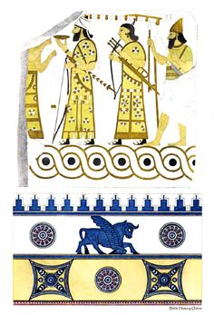 Enamelled Assyrian brick