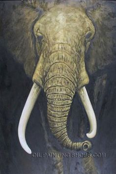 """Wall Art Decoration Ideas Old Oil Paintings Reproduction Animal Elephant, Size: 30"""" x 40"""", $147. Url: http://www.oilpaintingshops.com/wall-art-decoration-ideas-old-oil-paintings-reproduction-animal-elephant-3000.html"""