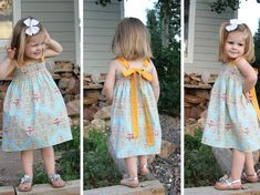 Tie-Back Sundress Pattern for Girls -Good shirring technique with elastic thread