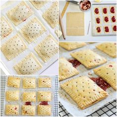 Homemade hand pies - a flaky pastry filled with strawberry jam. Try using Rigoni Strawberry Fiordifrutta Organic Fruit Spread. Strawberry Pop Tart, Homemade Strawberry Jam, Homemade Pop Tarts, Strawberry Hand Pies, Strawberry Fields, Strawberry Desserts, Flaky Pastry, Snacks, Food Processor Recipes