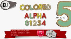 Debora's Creations: Colored Alpha COMMERCIAL USE