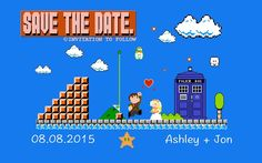 8 Bit #DoctorWho Wedding Save the Dates! - With Mario Undertones