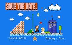 8 Bit #DoctorWho Wedding Save the Dates! - With Mario Undertones