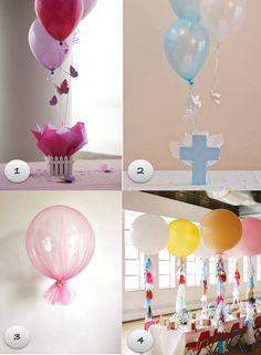 centrotavola battesimo palloncini
