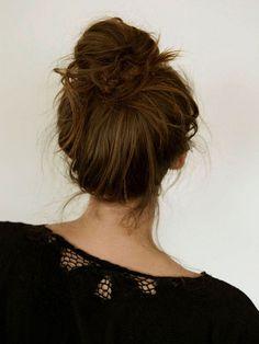 messy bun tutorial on website