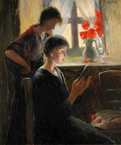 poboh:      Kvinnor vid fönster / The women at the windows, Allan Österlind. (1855 - 1938)